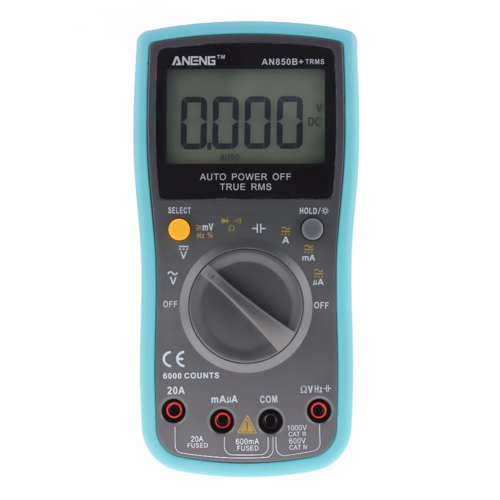 LCD Digital TRMS Multimeter 6000Counts Backlight Auto Range AC/DC Ohm Ammeter Voltmeter Tester High Quality