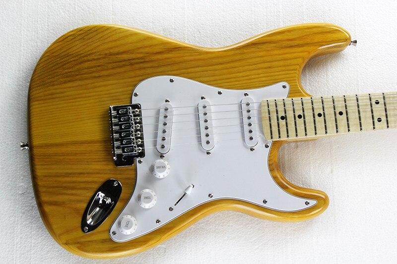 Nouvelle guitare électrique naturelle, Yumu corps usine en gros Yumu corps guitare électrique et SSS pick-up, images blanches
