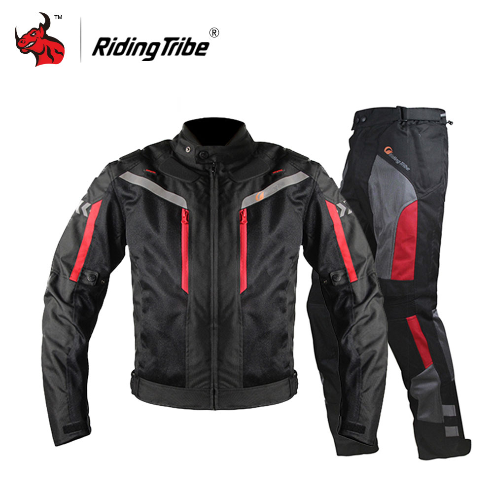 Riding Tribe Motorcycle Jacket Men Breathable Motorcycle Pants Moto Jacket Windproof Motorbike Cruiser Touring Clothing Raincoat benkia motorcycle rain jacket moto riding two piece raincoat suit motorcycle raincoat rain pants suit riding pantalon moto