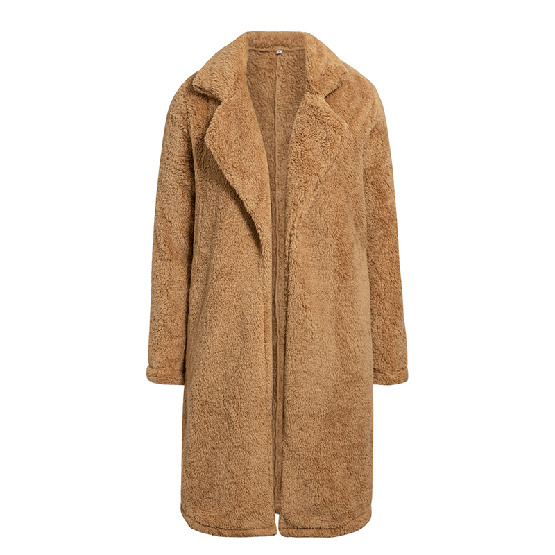 Conmoto Women Winter Suede Jacket 19 Fashion Teddy Bear Caramel Long Coat Female Long Sleeve Faux Fur Coat Fluffy Outerwear 17