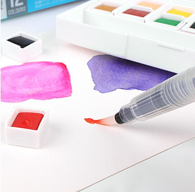 Pigment Solid Watercolor Paints Set Colored Pencils For Drawing Paint Watercolors Art Supplies van gogh 24 colors solid watercolor pigment with nature sponge and paintbrush plastic case water color paint art supplies