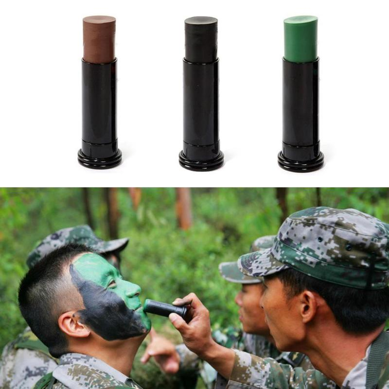 Us 2 6 32 Off 1pc Military Woodland Camouflage Camo Color Cream Body Face Paint Tube Stick For Outdoor Field Camouflage Oil Suit Hot Sale In Blind
