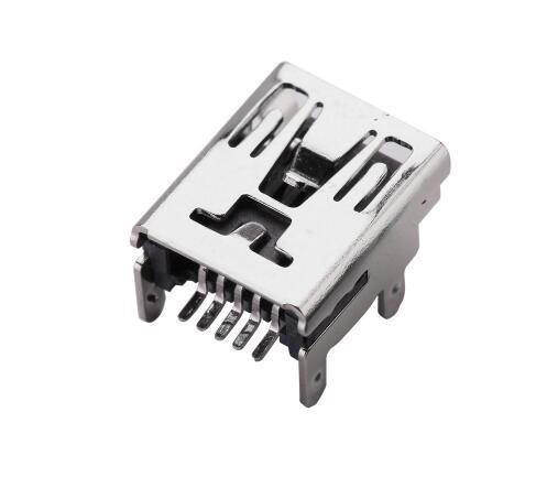 10x Mini USB Female 5Pin B Socket 4 Legs SMT SMD Soldering Connector Port JB J/&