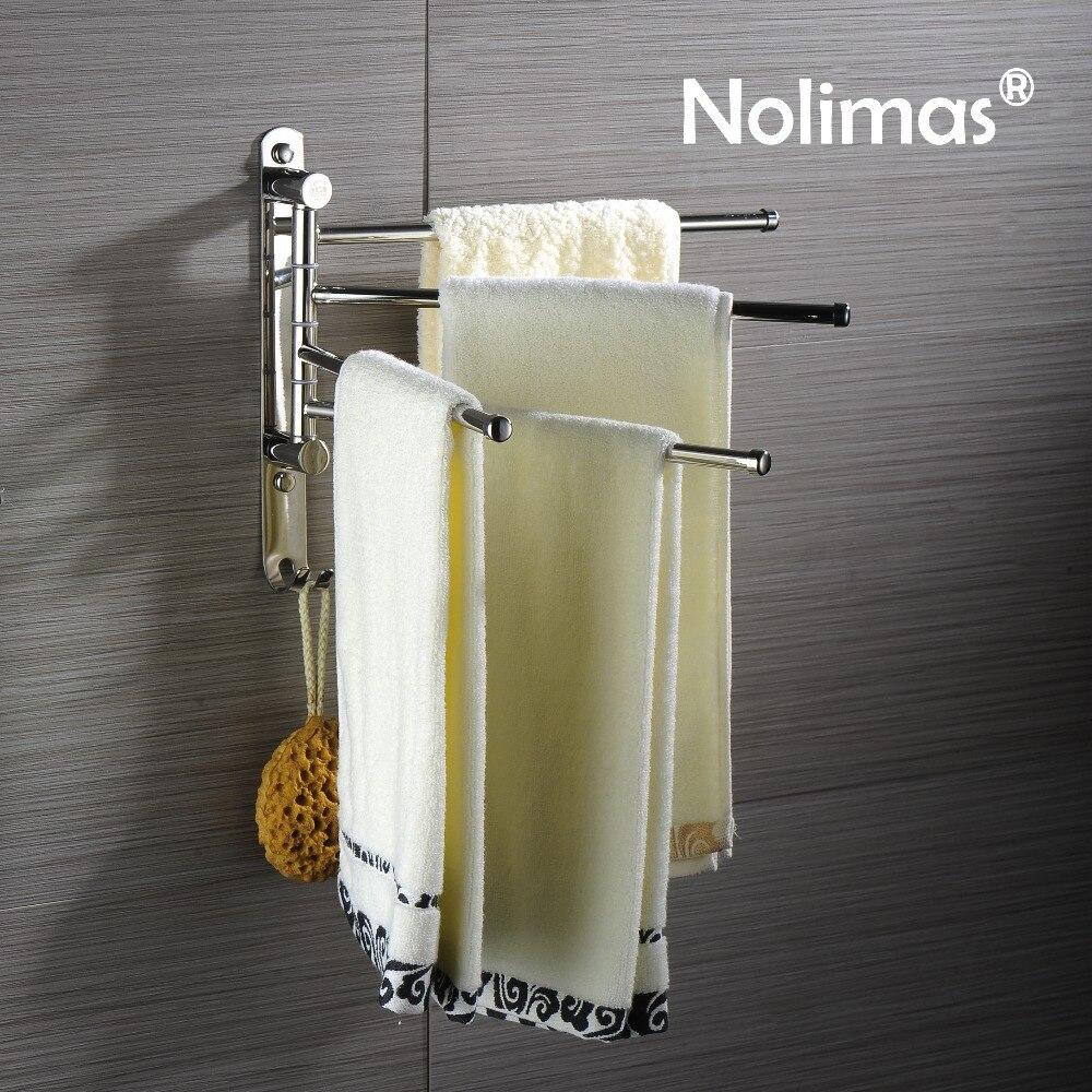 Aliexpress Com Buy Sus304 Stainless Steel Bathroom Swing Arm Towel
