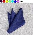 Pocket square pañuelo toalla pañuelo de lana de lujo para los hombres handky traje accesorios 10 unids/lote