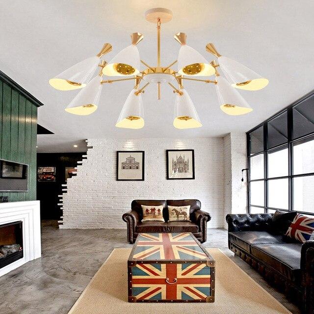 Nouveau Moderne Scandinave Corne Musicale Suspension Lampe Luminaire  Luminaire Lustre Pour Restaurant Salon PL463