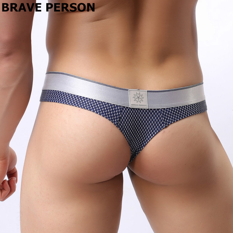 Brand  Underwear Men Briefs Male Panties Breathable Low-waist Bikini Briefs Brave Person Size S-XL Underpants