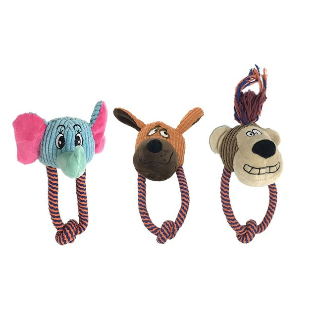 Funny Bear Monkey Elephant Dog Toy Funny Dog Cat Funny Squeak Toy