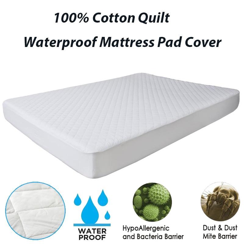 100X200CM Mattress Topper Cover Mattress Waterproof Cotton Quilt Mattress Pad For Bed Protector Anti Mites Waterproof Bed Sheet