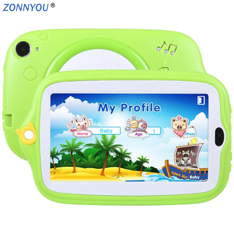 7 Inch Kids Tablet Pc Android4.4 Quad Core 512mb/8gb Wi-fi Bluetooth Baby Games Designed For Children With Gift Box+bag Lustrous Computer & Office