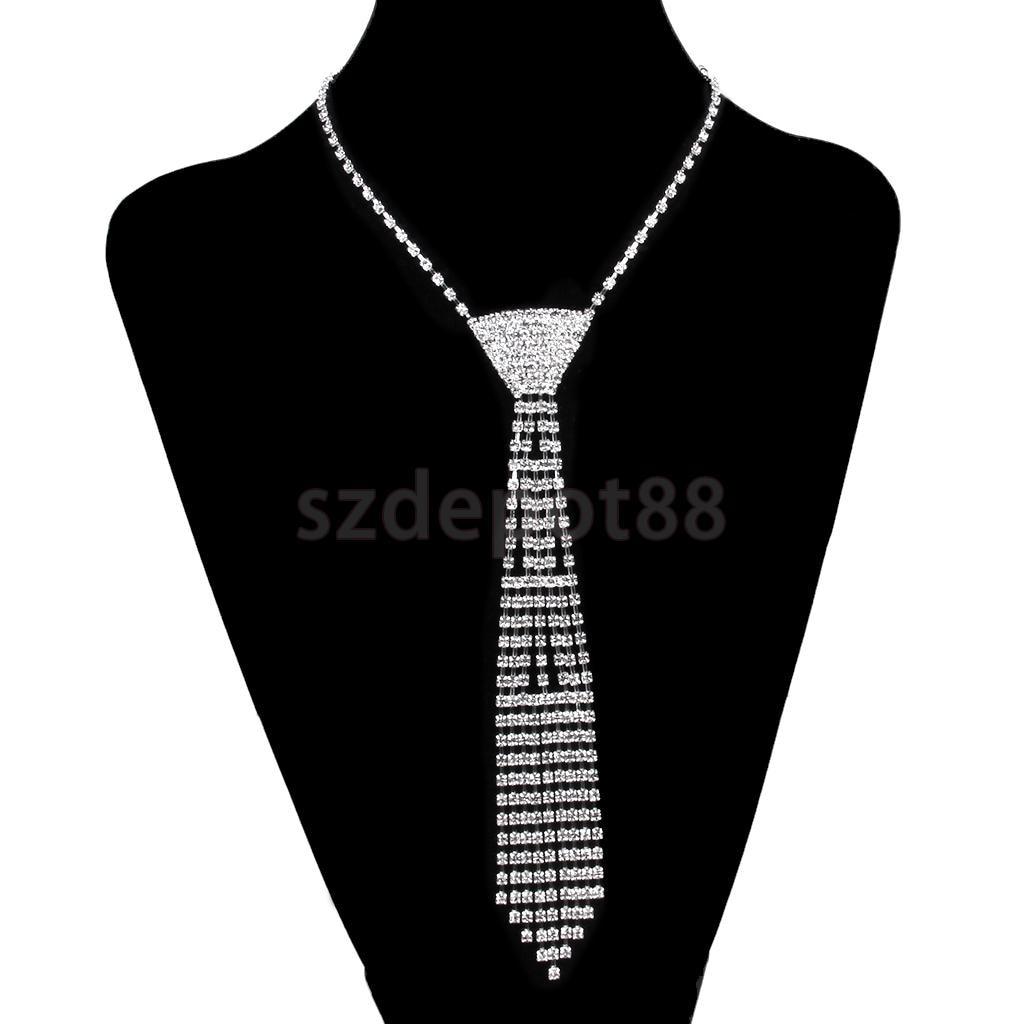 New Arrivals 2015 Crystal Tassels Rhinestone Necktie Necklace Wedding Bridal Jewelry Prom