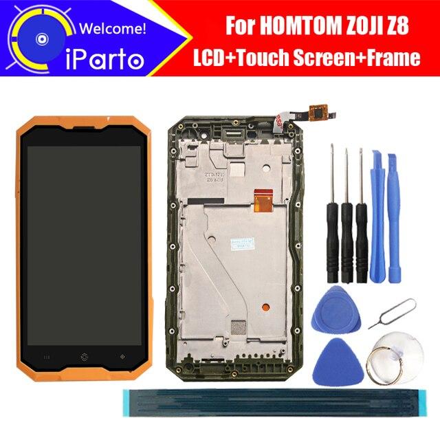 5.0 นิ้ว HOMTOM ZOJI Z8 จอแสดงผล LCD + หน้าจอสัมผัส + กรอบ 100% เดิม Digitizer เปลี่ยนแผงกระจกสำหรับ ZOJI Z8