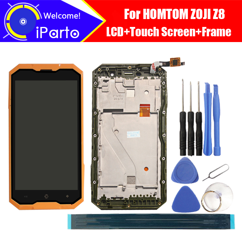 5.0 inch HOMTOM ZOJI Z8 LCD Display+Touch Screen + Frame 100% Original Tested Digitizer Glass Panel Replacement For ZOJI Z8(China)