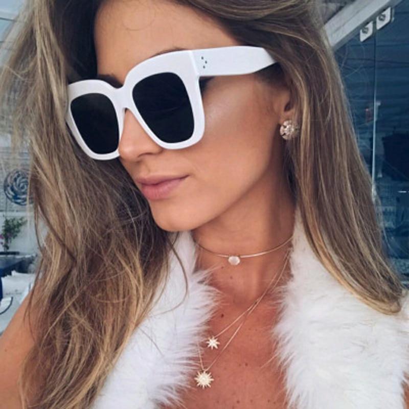 2018 New Fashion Cat Eye Women Sunglasses Female Brand Designer Gradient Points Sun Glasses Big Frame Style Eyewear UV400 Oculos