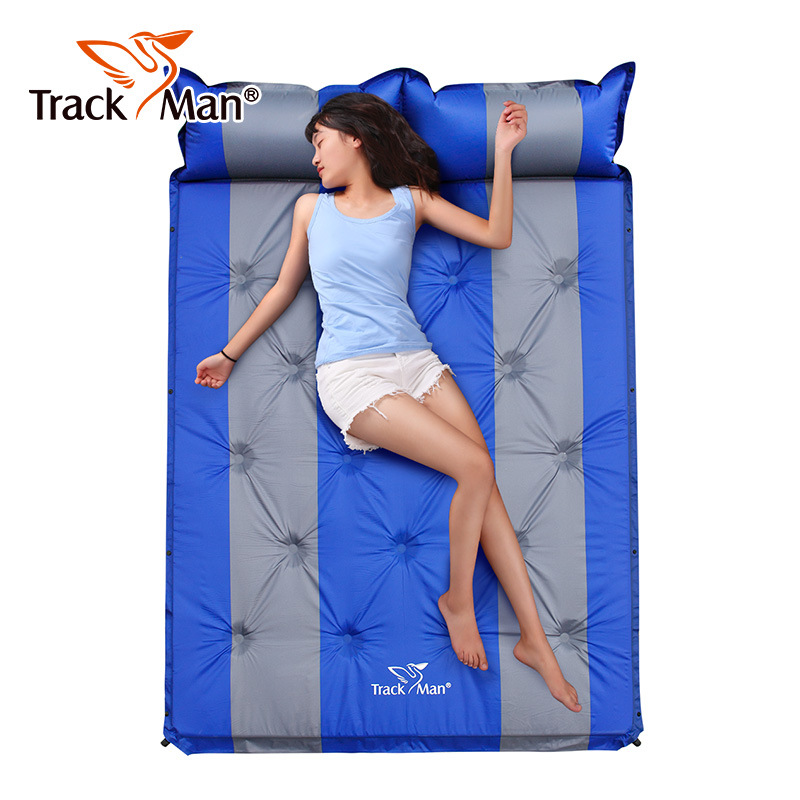 цена на Trackman double camping mat Moisture-proof Automatic inflatable mattress outdoor inflatable bed hiking travel mats sleeping pad