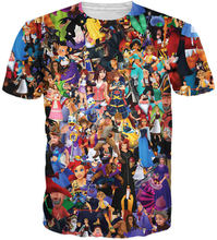 Summer Funny tees Kingdom Hearts Collage T-Shirt Sora Axel 90's Cartoon character 3d t shirt for ladies males clothes S-5XL R2347