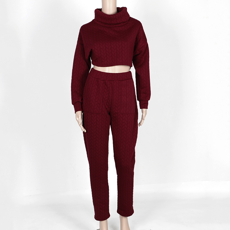 d21ac94d87a0 New Turtleneck Long Sleeve Club Rompers Womens Jumpsuit Two Piece Outfit  White Bodycon Bodysuit Overalls Crop Top And Long Pants on Aliexpress.com