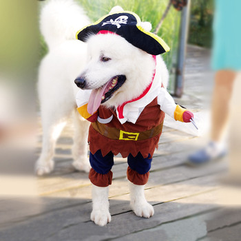 Pet Clothes Cosplay Pirate Dogs Cat Halloween Cute Costume Clothing Comfort For Small Medium Dog New Arrival 2018 B# 1