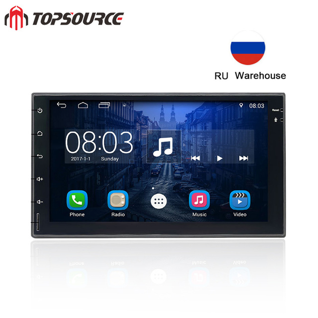 """TOPSOURCE 7023 7"""" Universal Double din Car Radio gps Android car multimedia player with rds bluetooth For VW NISSAN TOYOTA HONDA"""