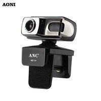 AONI Webcam Desktop Camera 720P High Definition Web Cam With Digital Microphone For TV Netmeeting USB Night Version PC Cameras