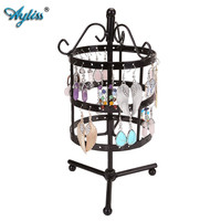 72 Holes Earring Bracelet Necklace Display Jewelry Holder Metal Show Rack Hanger Rotate Jewelry Rack Nice