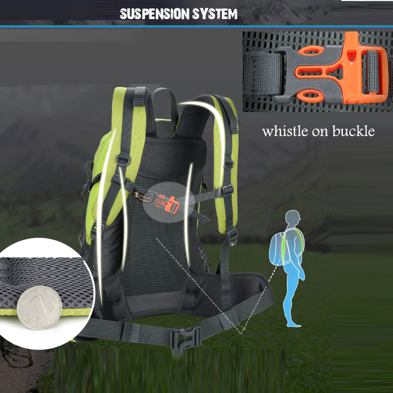40L Waterproof Travel Backpack Mens Outdoor Camping Trekking Backpack Climbing Mountain Outdoor Backpack Sports Bag Bags 3