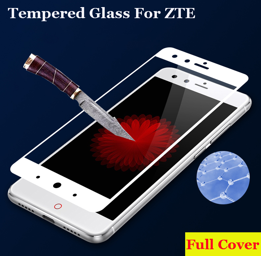 GerTong Tempered Glass For ZTE Nubia Z11 Z17 Mini M2 Lite A2 Plus For ZTE Blade V8 Full Cover Screen Protector Toughened Film