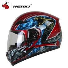 NENKI Motorrad Helm Full Face Motorrad Helm Persönlichkeit Moto Helm Capacetes De Motociclista Für Männer Und Frauen