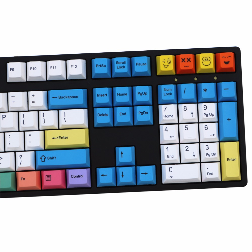 Coloured Chalk 108/115 Keys Mechanical Keyboard PBT keycaps Cherry Profile ANSI Layout Just the keycap is not the keyboard