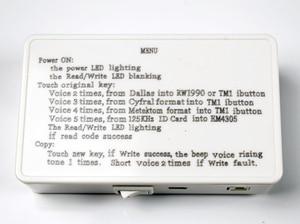 Image 5 - TM RFID Copier Duplicator handheld RW1990 TM1990 TM1990B ibutton DS 1990A I Button 125KHz EM4305 T5577 EM4100 TM card Reader