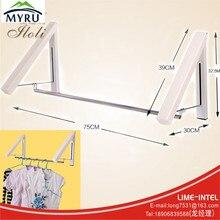 Big discount Mini folding telescopic hidden hanging clothes rack multifunctional clothes hanger