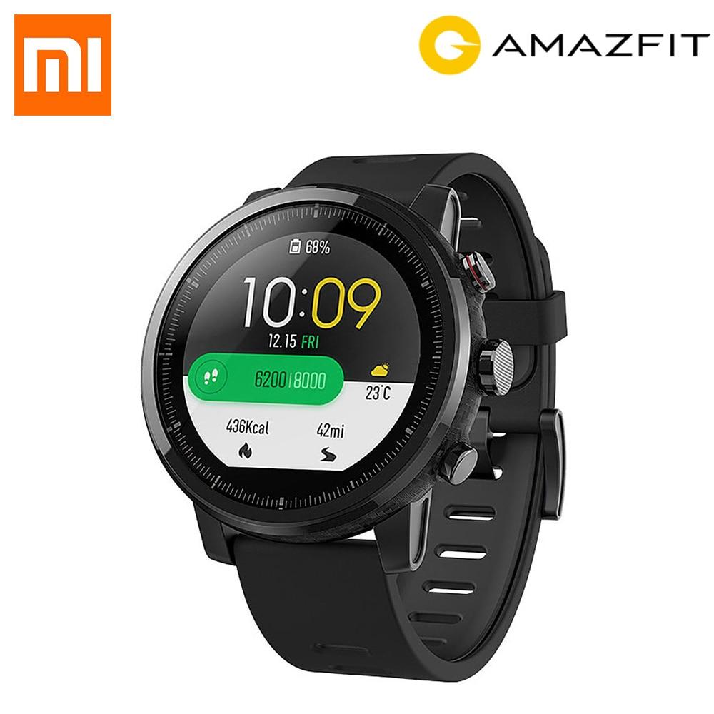 Nouveau Anglais Version Huami Amazfit Stratos Intelligents Sport Montre 2 5ATM D'eau 1.34 ''2.5D Écran GPS Firstbeat De Natation Smartwatch
