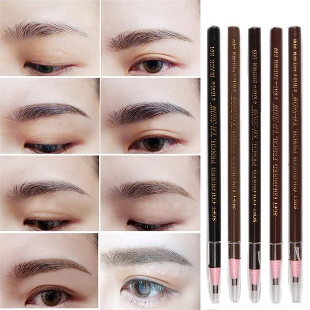 Best Selling 5 Colors Soft Crayon Waterproof Eyebrow Eyeliner Pencil