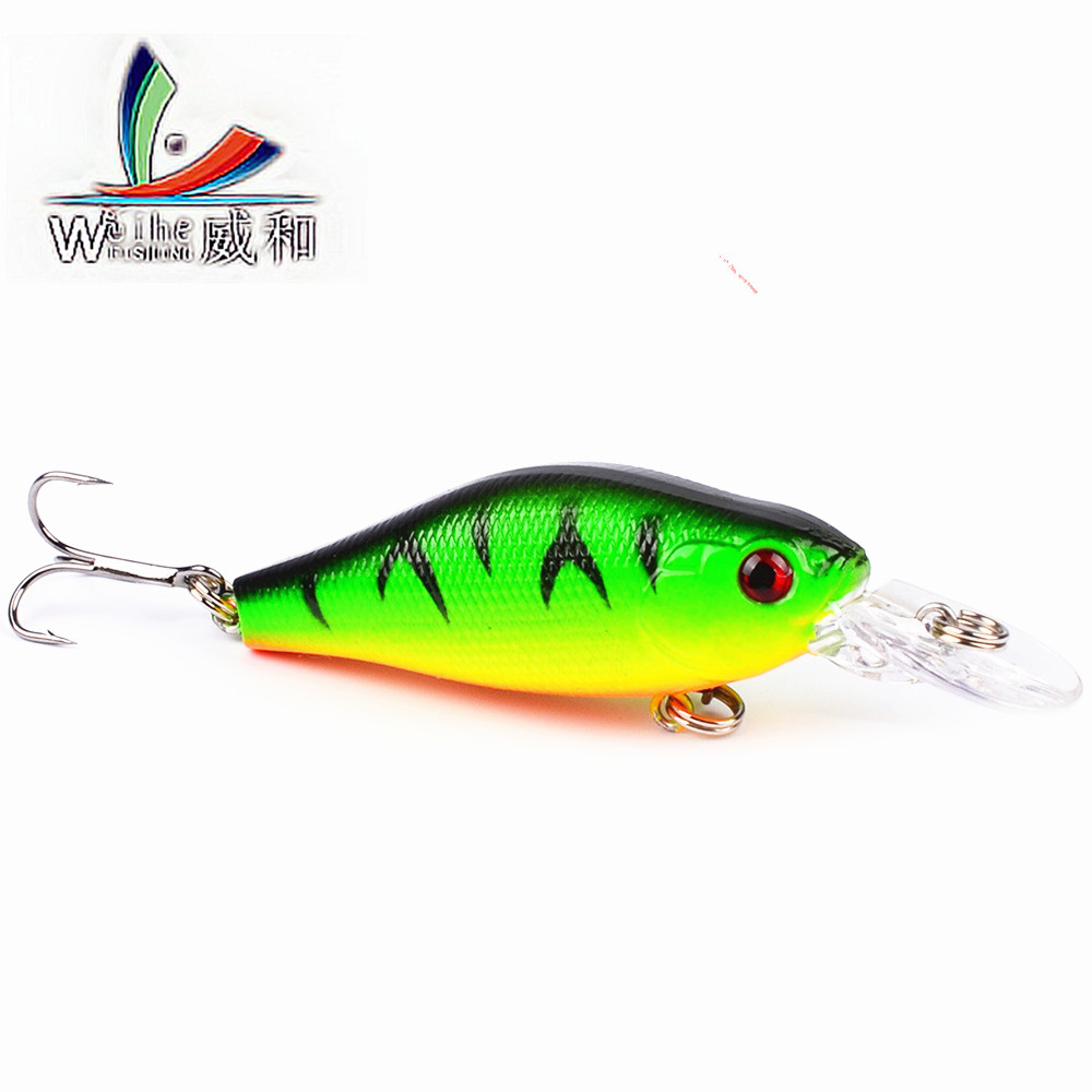 1 Pcs 7cm/8.06g 3D Eyes 10 Colors Fishing Lure Artificial Plastic Mino Crankbait Carp Fishing All Bait Everything for Fishing