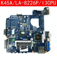 K45A VAL40 LA 8226P Onboard I3 CPU mainboard REV 1.0 For ASUS K45A K45VD A45V K45VM K45VS A85V laptop motherboard 100% Tested