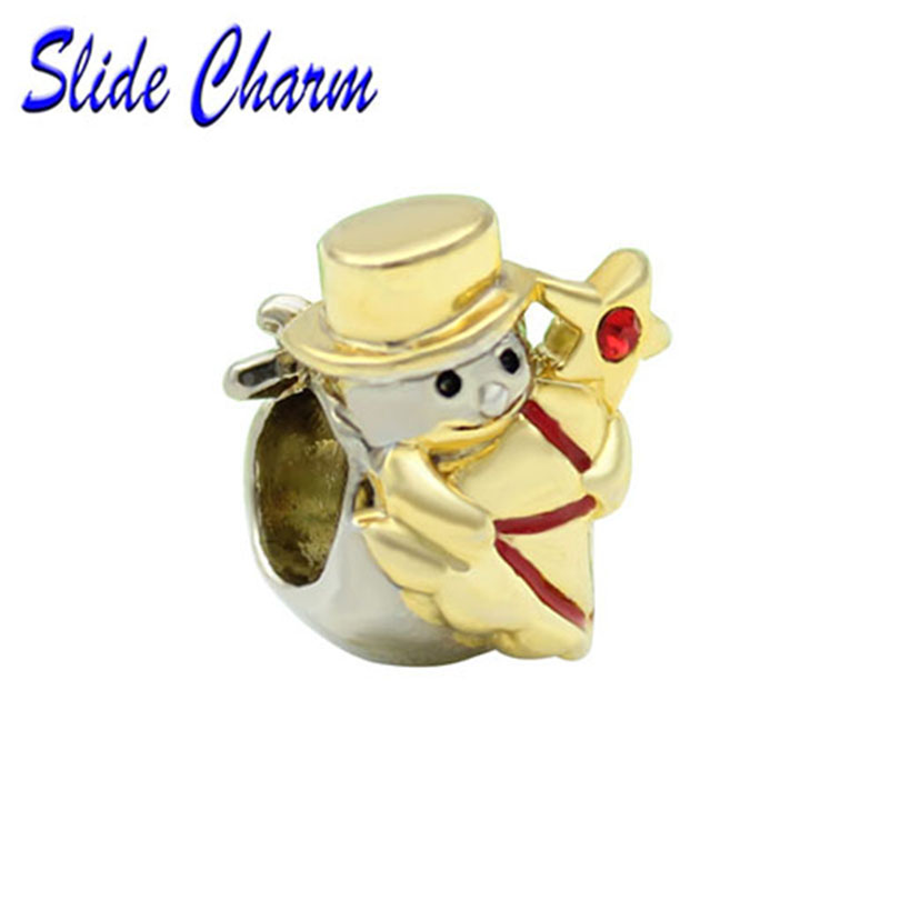 NEW European Snowman Christmas tree Pendant Charm Beads Fit Necklace Bracelet  !