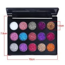 15 Color Nude Shining Eyeshadow Palette Makeup Glitter Pigment Smoky Eye Shadow Pallete Waterproof Cosmetics dropship F5.9