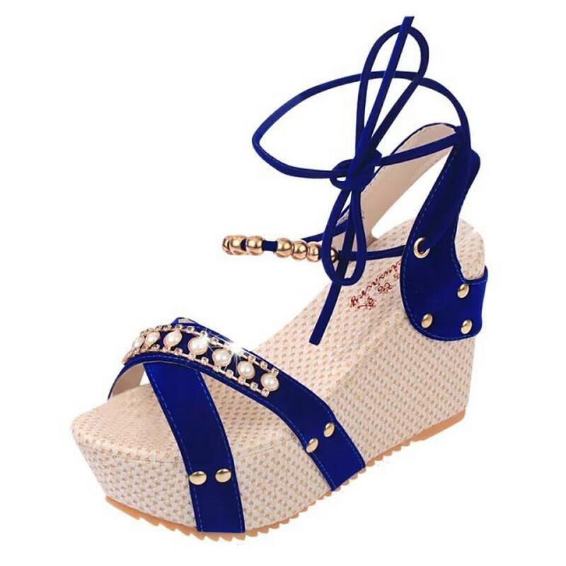 Primavera Sandalias fósforo De Son Alto Tacón Frescas azul Cómodo Zapatos Verano Nuevo negro Beige Todo rgFUPWrS