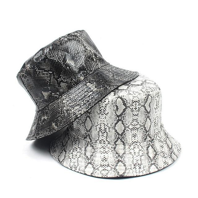 81867c34 Summer Hat Women Mens Panama Bucket Hat Snake Print Design Sunshade Fishing  Fisherman Bob Hat Chapeu Femmes Hip Hop W90