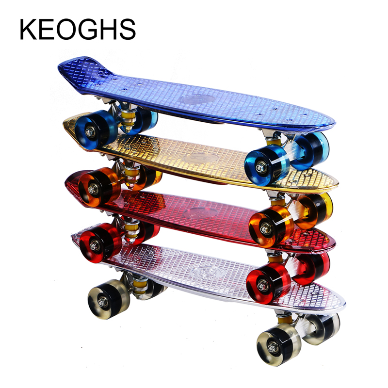 fish board adult children skateboard printing PU flashing 4 wheels outdoor sports Bodybuilding Single headed