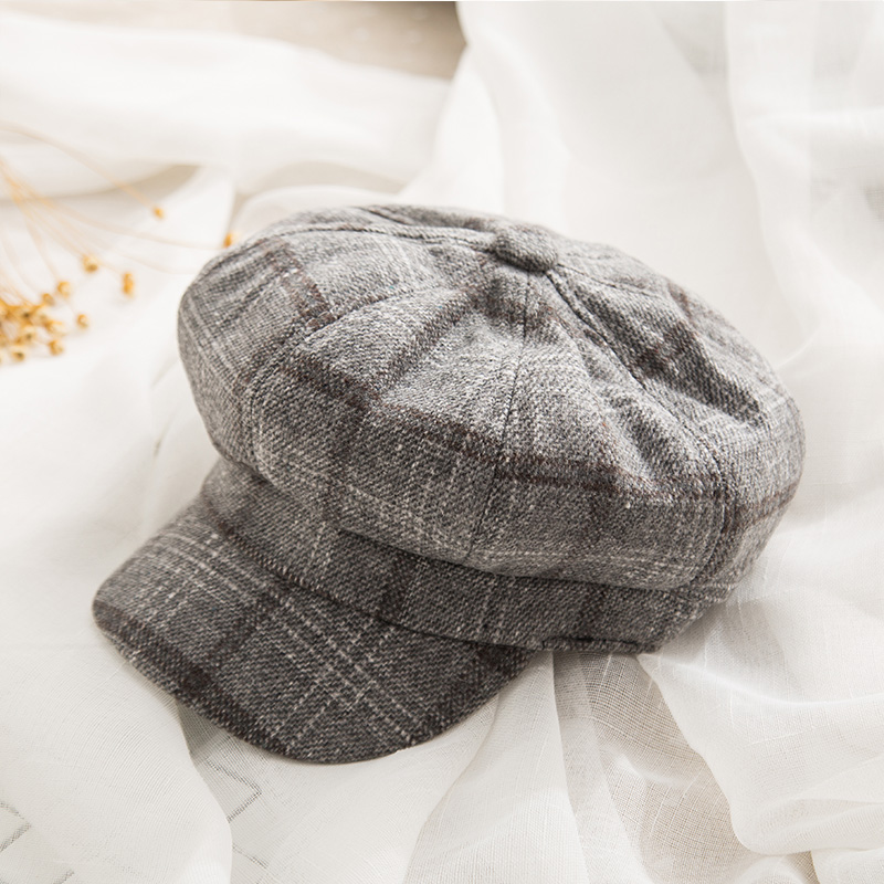 10112472b US $6.99 30% OFF|2018 New Brand Women Octagonal Hat Autumn Winter Vintage  Cotton Beret Casual Newsboy Hats For Girl Female Octagonal Cap-in Newsboy  ...