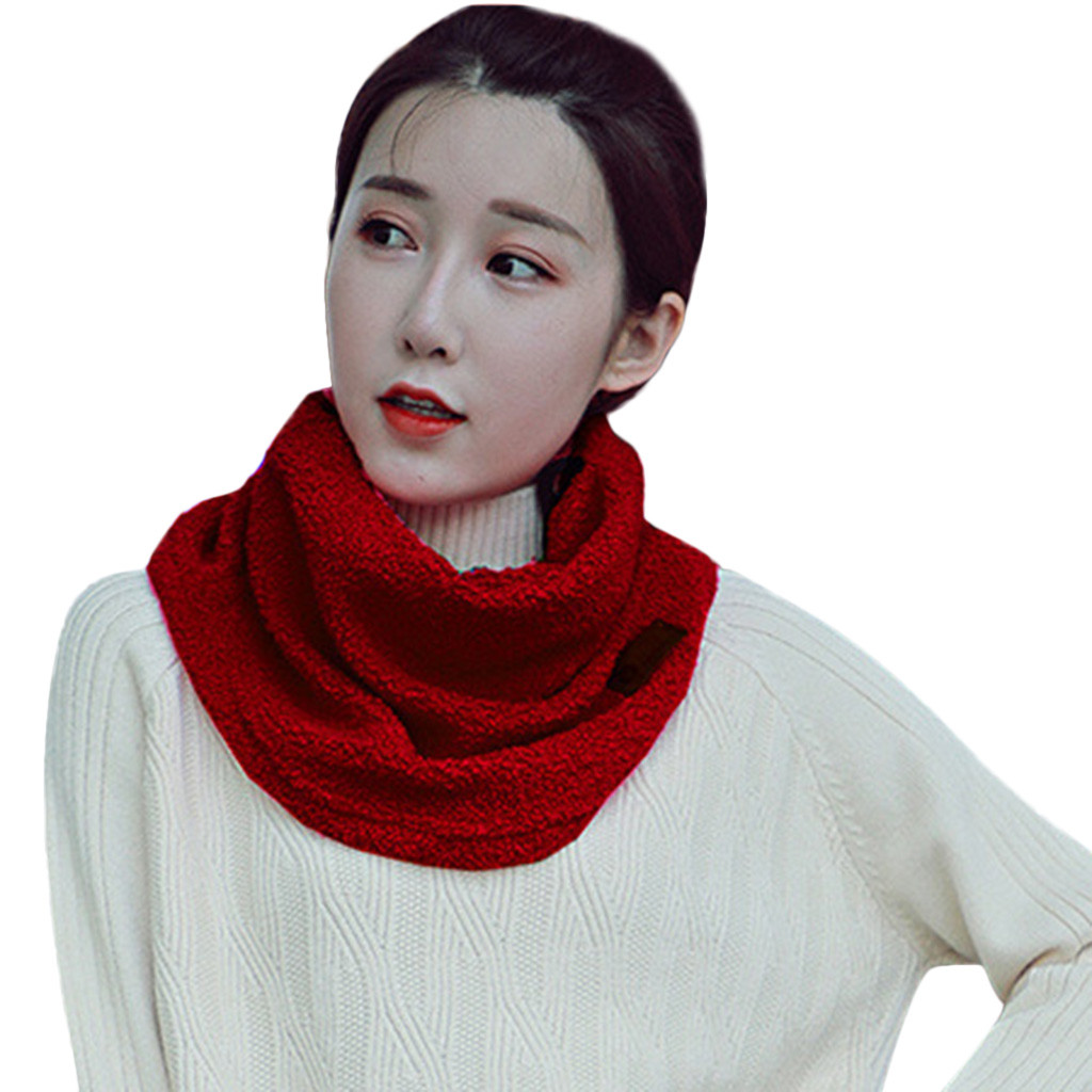 f7784563 Aliexpress.com : Buy Fashion Winter Women Scarf Keep Warm Protect Neck  Women Hijab Neckerchief Collar Mask Solid Ladies Shawls Invierno Mujer #IS  from ...