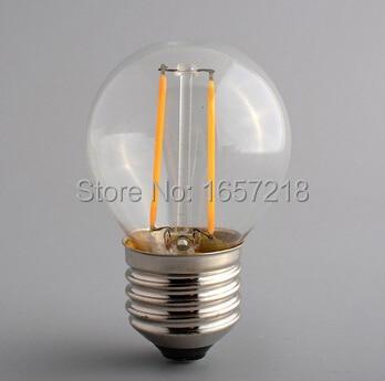 5pcs X E27 G45 2W 4W led filament bulb energy saving AC220V 360 degree White / Warm White lighting indoor home light lamp