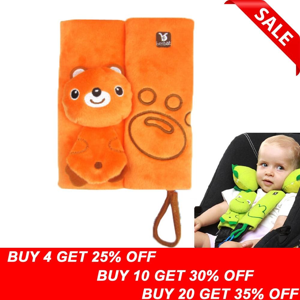 Seat Belt Covers Child Car Seat  Highchair Stroller Pram Bright Spots on Black