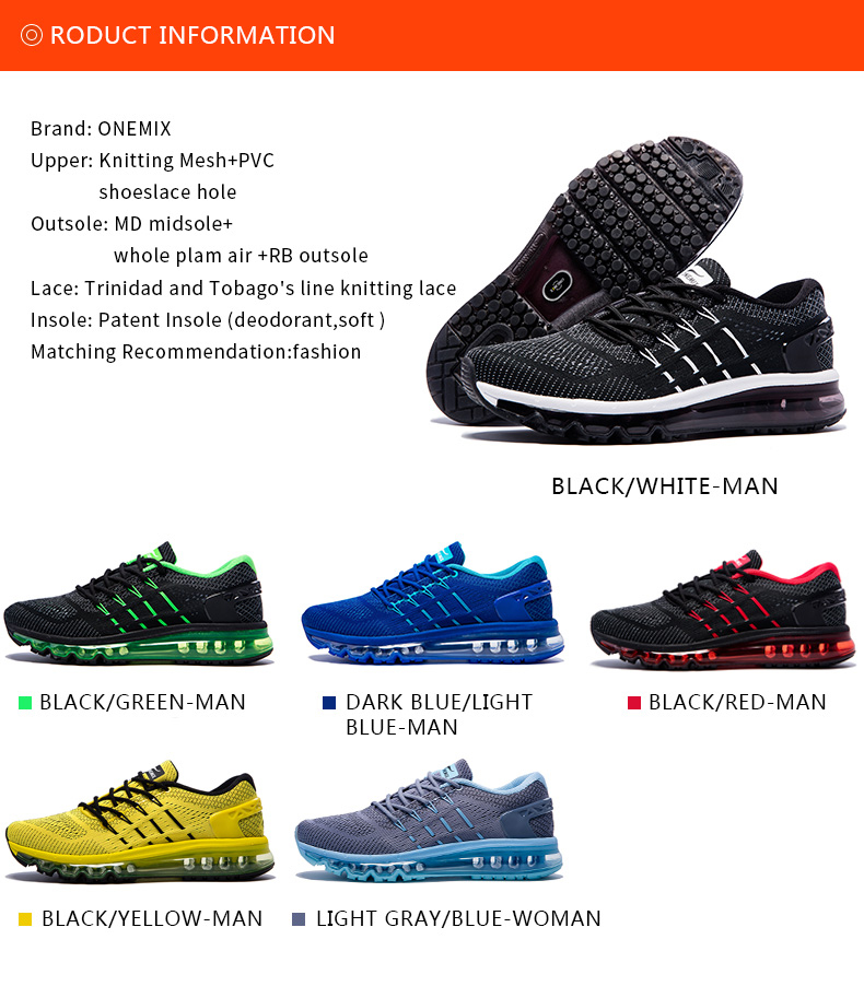 2018 Air Running Shoes for Men Unique Shoe Tongue Athletic Trainers Black Red Mens Breathable Sports Shoe Cushion Sneakers