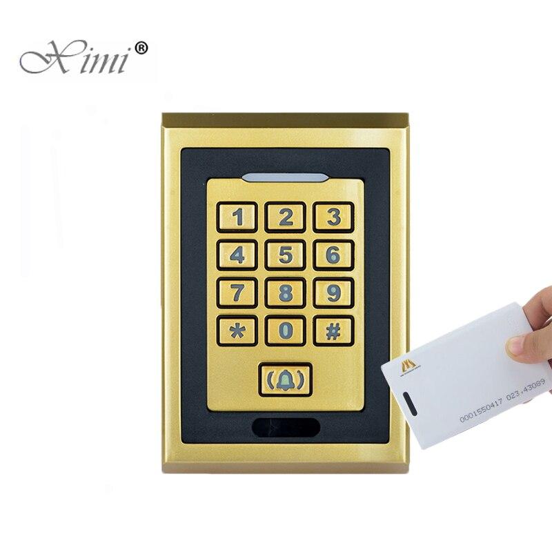 IP65 étanche à la poussière 8000 utilisateurs 125 KHZ EM RFID carte et mot de passe autonome porte contrôle d'accès porte système de sécurité M04