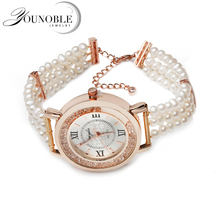 Fashion beautiful natural freshwater pearl bracelet watch,trendy girl birthday gift