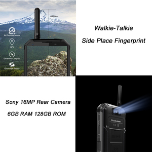 """Image 4 - BLACKVIEW BV9500 Pro IP69K Walkie Talkie 5.7""""18:9 FHD Smartphone Android 8.1 6+128GB 10000mAh wireless charging mobile phone NFC"""