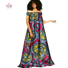 2017 BRW African Clothing Traditional Bazin Riche Autumn Dress Boho Style  Robe Femme Maxi Dress Women Gowns Tunic Dresses WY2091 5756ea524d0b