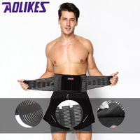 AOLIKES Exercise Belt Lumbar Steel bars Support Breathable faja lumbar Waist Support Safety fitness belt Bodybuilding Belts